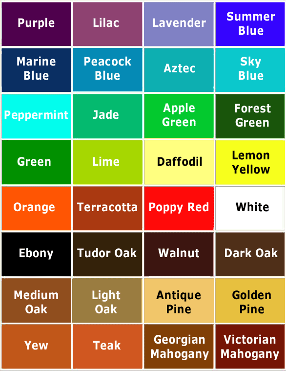 Jalapeno Drums Colour Chart