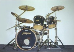 Jalapeno Forest Green Burst Gloss Lacquer Drum Kit
