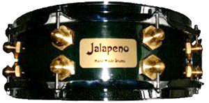 Jalapeno Forest Green Burst Gloss Lacquer Drum Kit - Snare